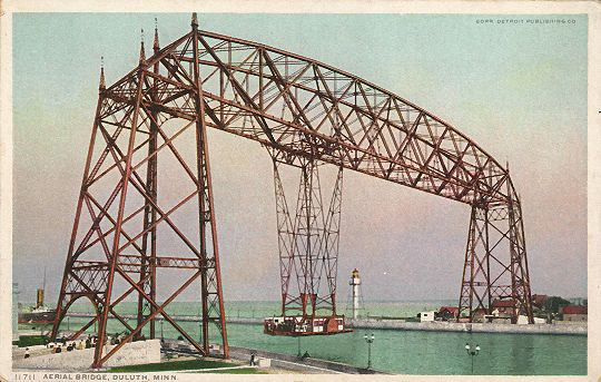 Duluth Aerial lift bridge open
