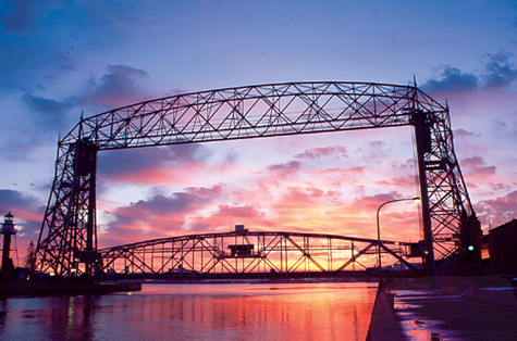 Duluth Aerial lift bridge closed